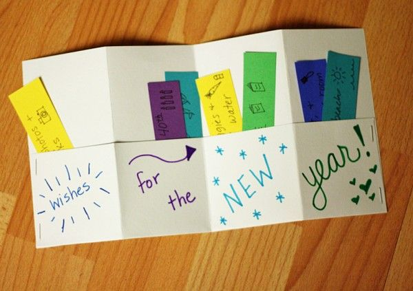 Wishes for the New Year - accordion book to make with the kiddos to welcome 2015!