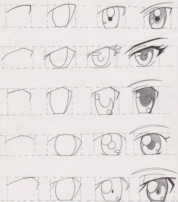 Manga_anime eyes How to- step by step Really helpful I'm gonna try these soon