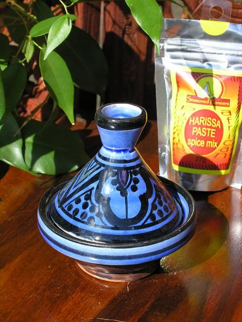 Baby Moroccan tagine with traditional blue decoration. http://www.maroque.co.uk/showitem.aspx?id=ENT02064&p=00738&n=all