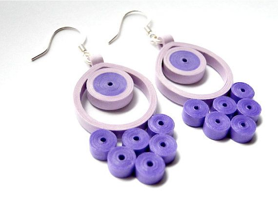 Hey, I found this really awesome Etsy listing at https://www.etsy.com/listing/206344160/unique-handmade-purple-earrings-quilled