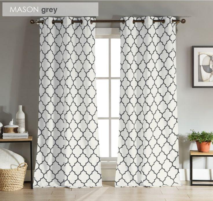 Modern Geometric Curtains | Set of 2