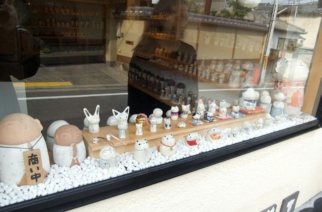 kyoto ceramic store window