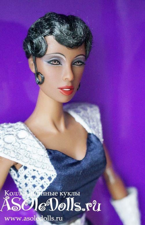 Коллекционная кукла Жозефина Бейкер ЧЕРНАЯ ВЕНЕРА http://www.asoledolls.ru/product_323.html  Рост: 32см  Стоимость: 8990=