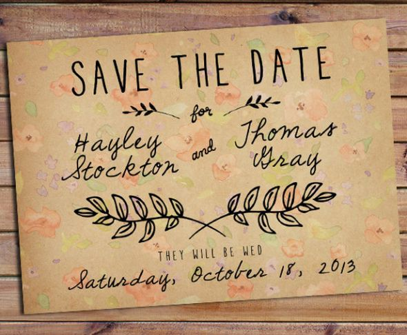 Perfect Rustic Wedding Save The Date