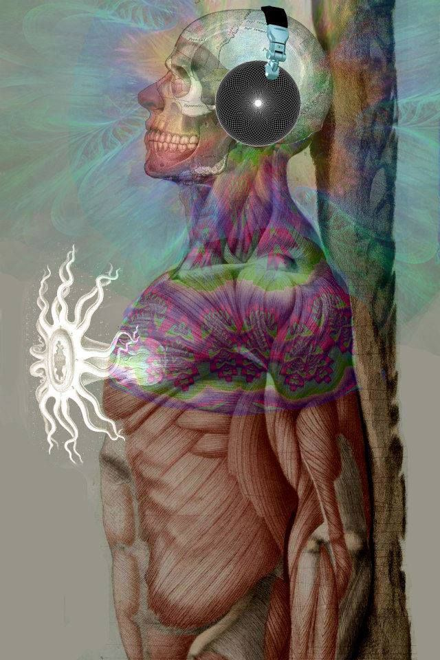 "The Sufi Master Hazart Khan states ""People say the soul on hearing the song of creation entered the body but, in reality the soul itself was the song"".  Art By Visual Alchemy"