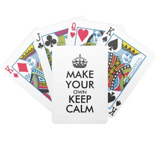 Make your own keep calm - black playing cards