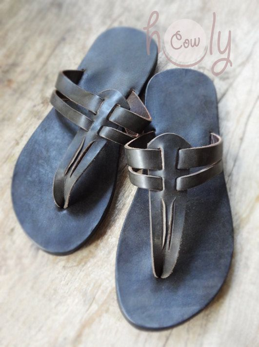 Handmade Sandals Leather Sandals Mens Sandals por HolyCowproducts