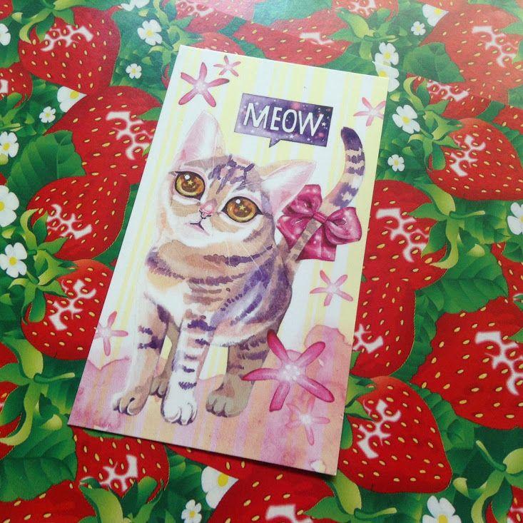 수채화 고양이 미니카드