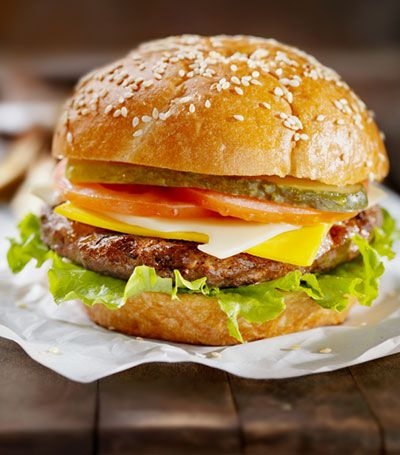 Zabars-Summertime meal. A simple burger recipe. Like the mayo idea for the bottom bun, so juices don't soak through. Have to try that.