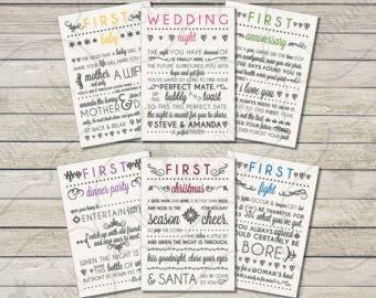 Milestones Wine Labels - Wedding Gift First Anniversary ...