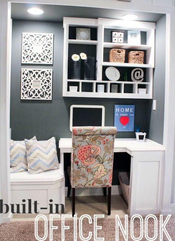 Office in a closet/nook