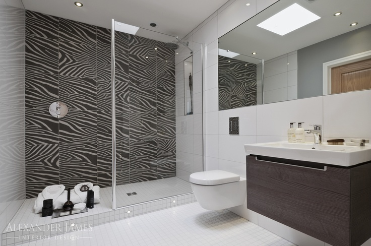 How about this bathroom concoction? Contemporary design with a zebra-like theme. #interiors #bathroom #design