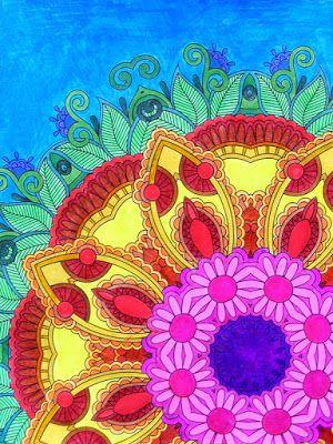 HANDMADE by Ki: (2) kolorowanki dla dorosłych