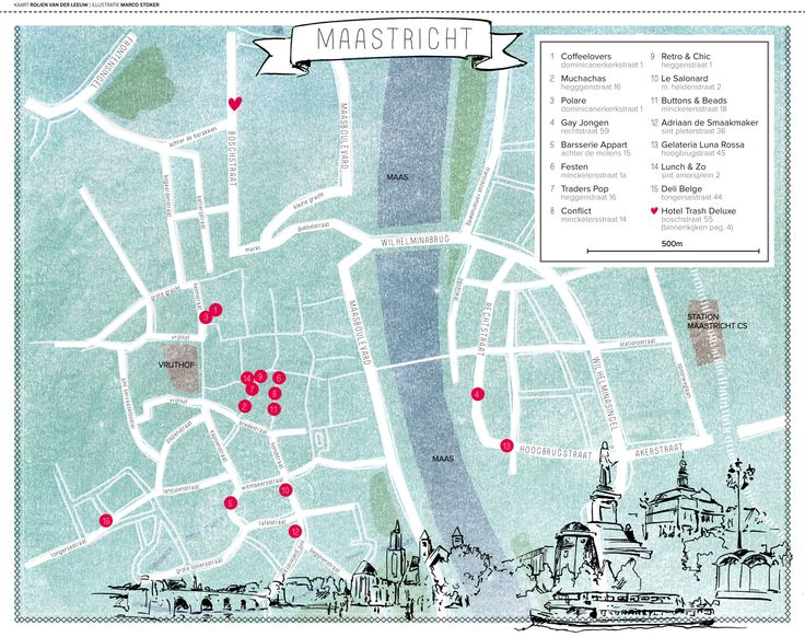 Maastricht winkeltips.  http://www.vtwonen.nl/wp-content/uploads/2013/08/vtwonen-plattegrond_maastricht.jpg