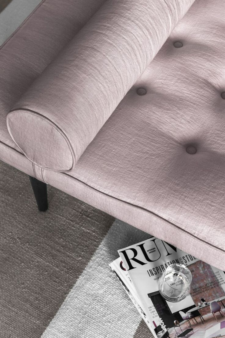 Layered's  Ritzy Daybed Pink Blush. The design was inspired by a daybed in a Parisian apartment, this is a classic elegant piece with a bohemian signature. The daybed can be used as a single statement piece or as part of a traditional seating group, as a sofa or an extra seating place. See more at: http://layeredinterior.com/product/ritzy-daybed-2/