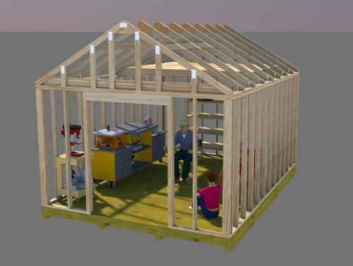 25 best shed plans 12x16 ideas on pinterest shed plans for Best builders workshop deck