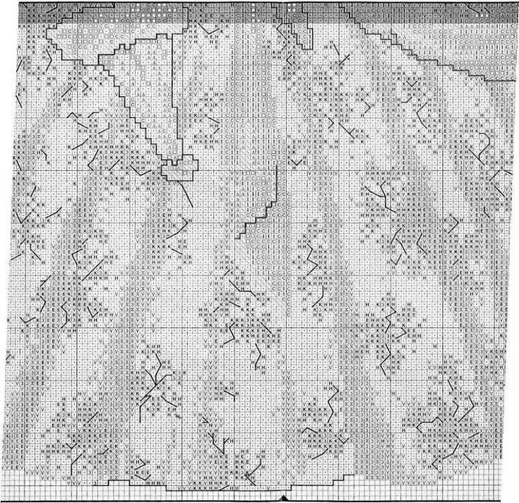 Schema punto croce Vestito Rossella 3
