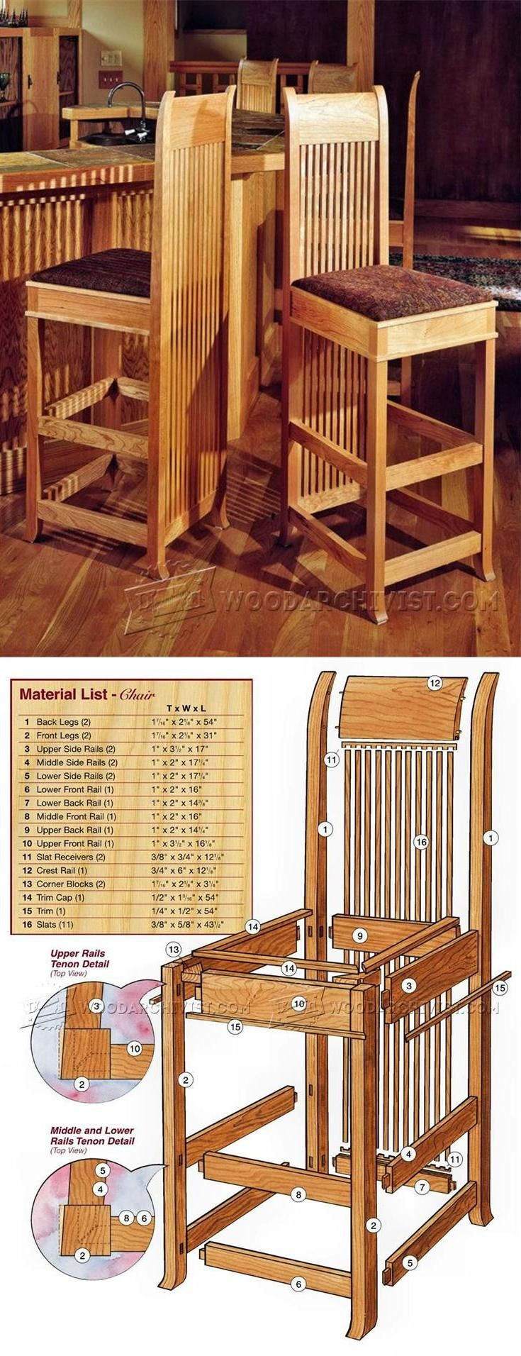 wooden bar stool plans furniture plans and projects