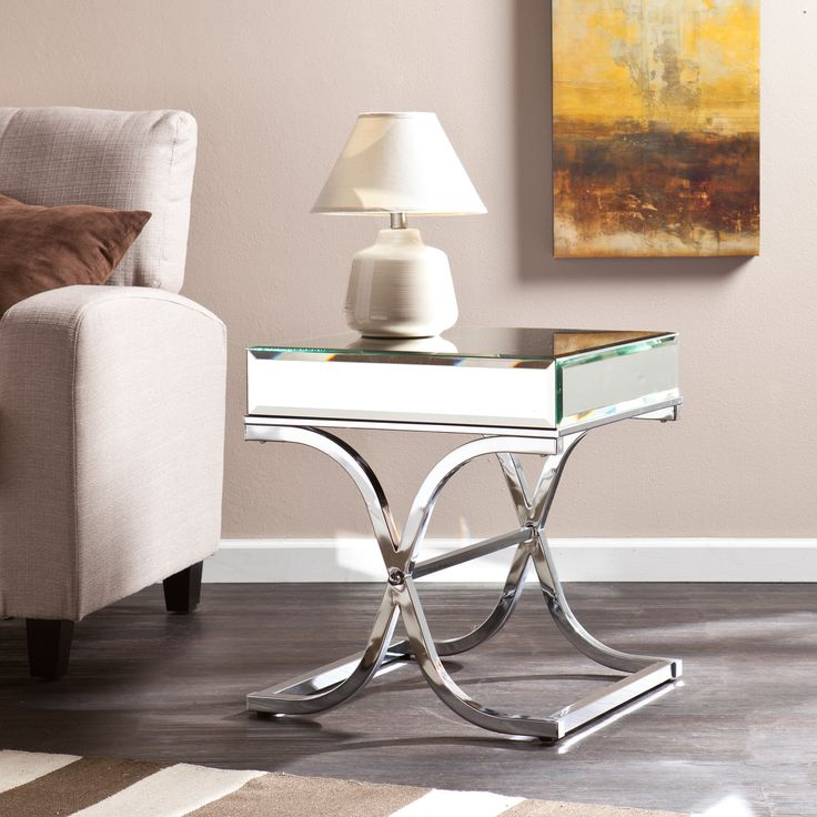 Wildon Home ® Caraman Mirrored End Table