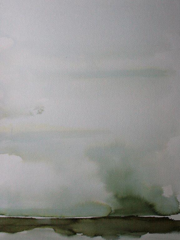 "Koen Lybaert; Watercolor 2013 Painting ""Ojinaga"""