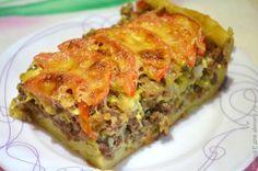 Открытый мясной пирог из картофельного теста / Рецепты с фото