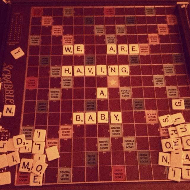 1000 images about Pregnancy – Scrabble Baby Announcement