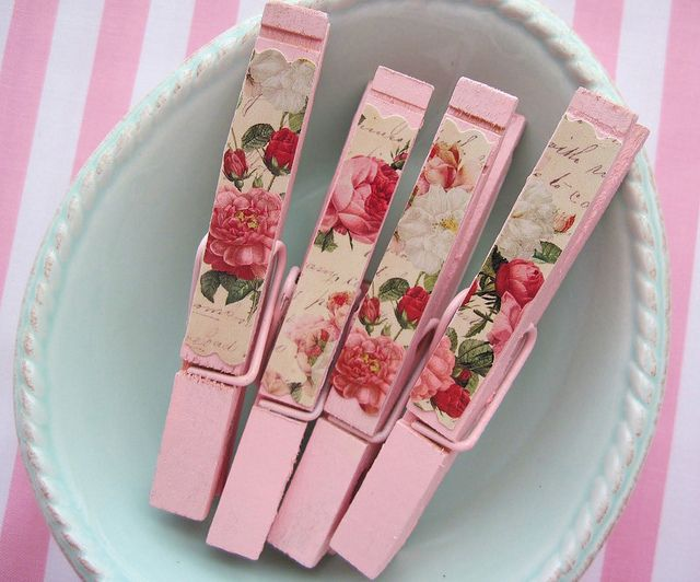 Shabby chic clothespins.