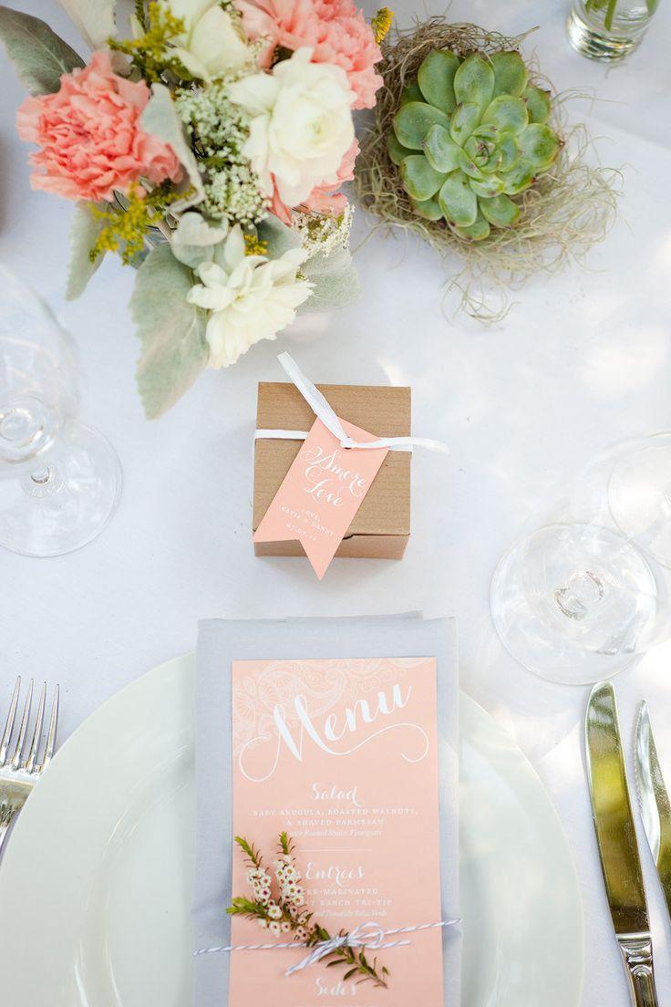 Menú de matrimonio y recuerdo de matrimonio wedding menus