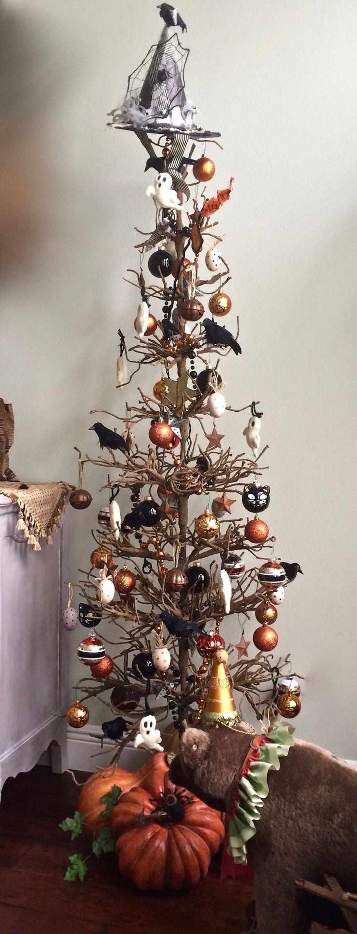 My Halloween Twig Tree. 2017 -Katy Silb
