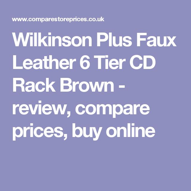 Wilkinson Plus Faux Leather 6 Tier CD Rack Brown  - review, compare prices, buy online
