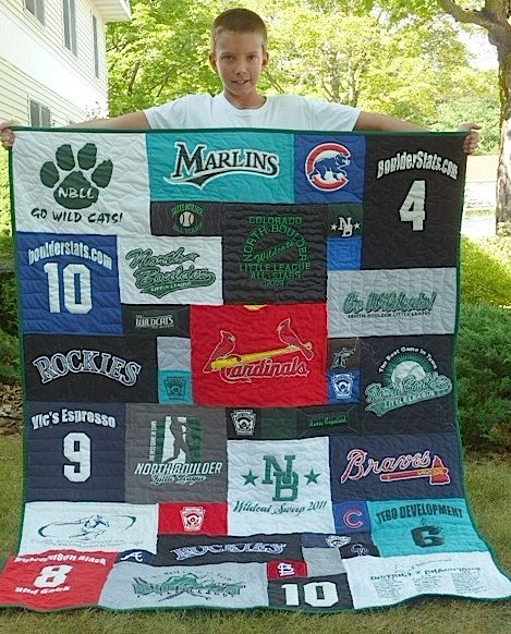 Great idea and way to keep all those tournament shirts...baseball tee shirt quilt, So doing this for the girls when they get older and start collecting all this stuff