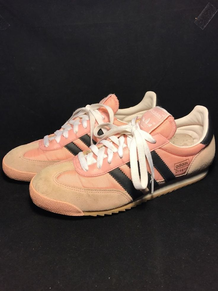 Adidas Originals Dragon Suede Trainers Pink & White Lace Up Women's 8 Shoes #adidas #RunningCrossTraining