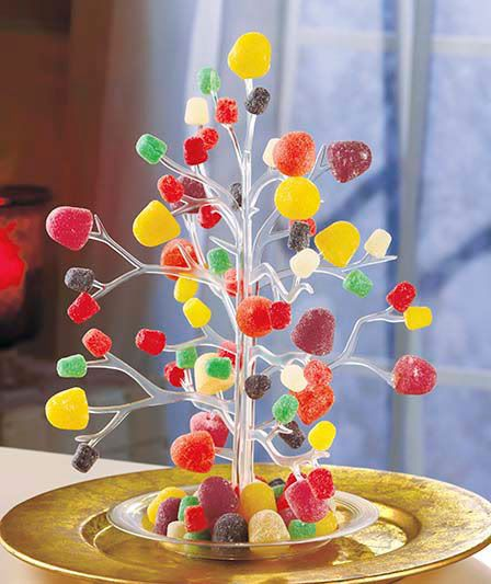Vintage clear plastic gumdrop candy tidbit ornament tree christmas ...