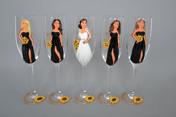 Hand painted Bridal shower party Personalized Wine or by pastinshs