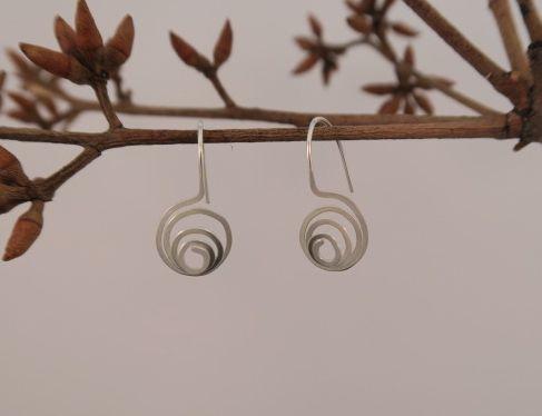 Silver Small Swirl Earrings