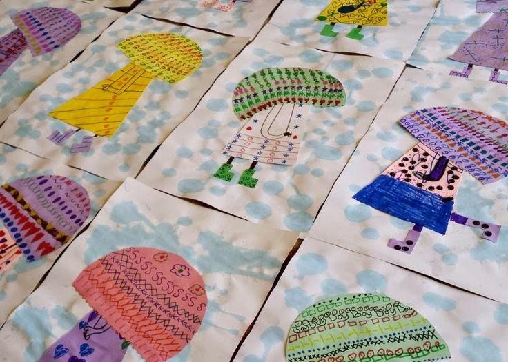 Mrs. Pearce's Art Room : Rain Umbrellas