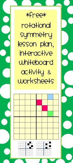 Rotational Symmetry Lesson Plan, Interactive Task for the smart board and worksheet activities. Common Core: 8.G.A.1