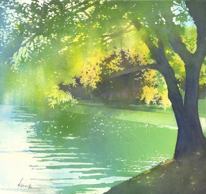 2013 Kanta Harusaki watercolor