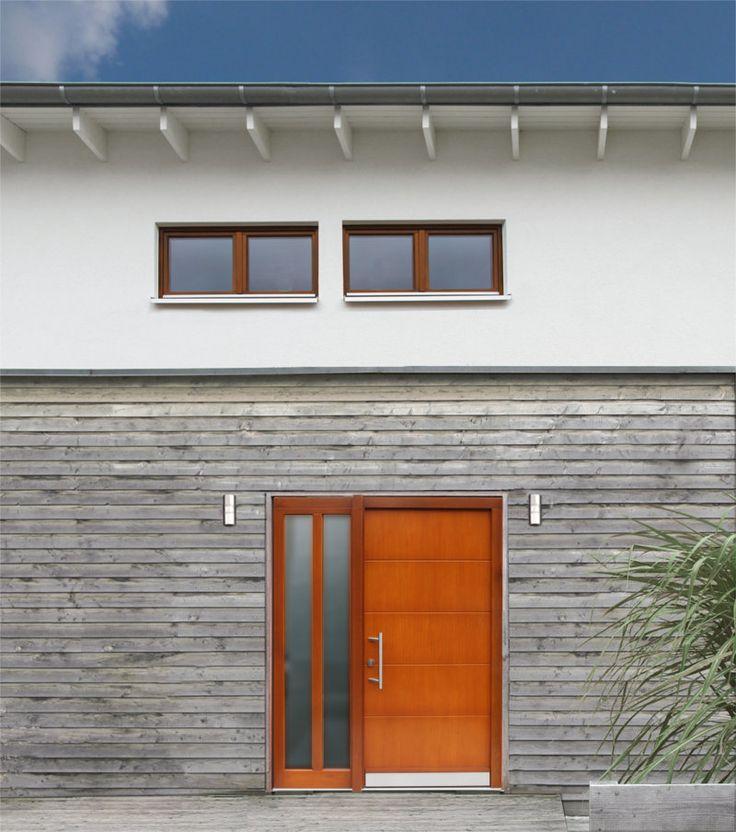 Haustüren holz mit seitenteil  23 besten Haustüren // Entry Doors Bilder auf Pinterest | Holz ...