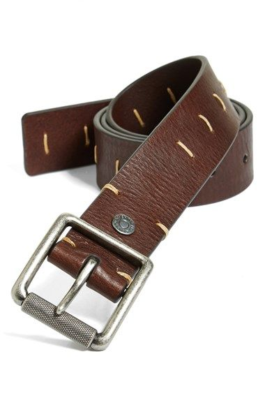 Free shipping and returns on 7 For All Mankind® 'Stringer' Leather Belt at Nordstrom.com. Sharp stitch details liven up a handsome belt fitted with an embossed roller buckle.