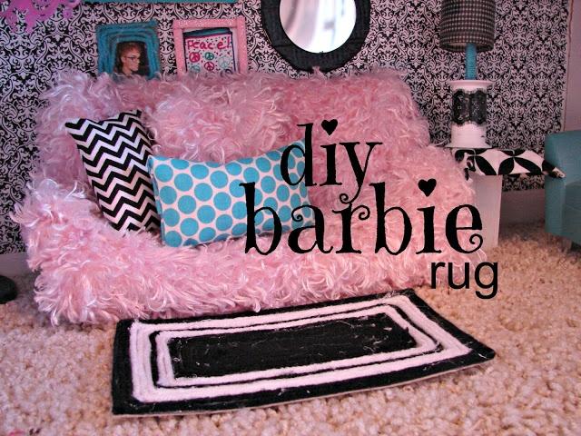 DIY: Barbie rug and house decor ( ideas for Monster High dolls)