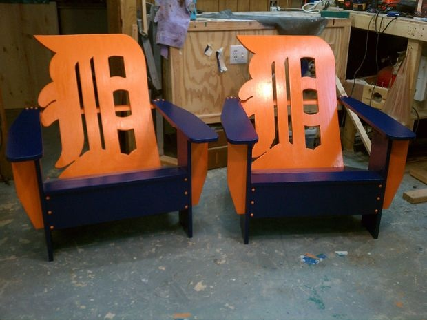 Detroit Tigers Chairs - want these for my deck!
