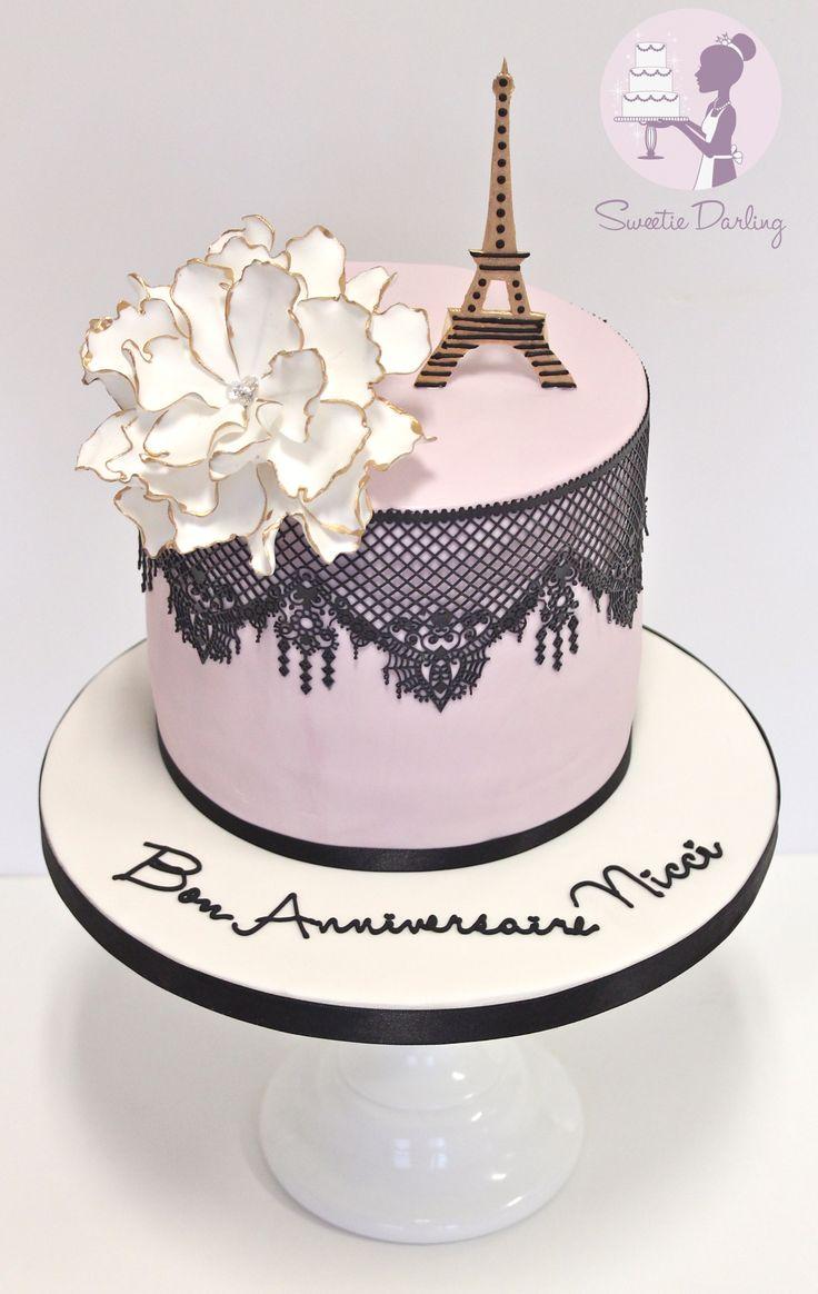 Peachy Beautiful Paris Themed Birthday Cakes Slubne Suknie Info Personalised Birthday Cards Akebfashionlily Jamesorg