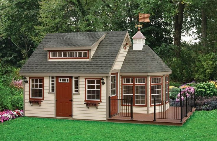 12 x 28 Keystone A-Frame Guest House - 12 x 12 Pitch Roof; Separate Porch; Solarium; New England Dormer; Copper Cupola.