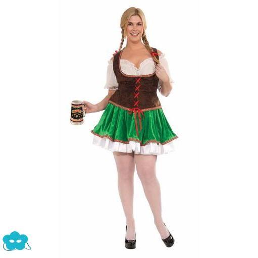 Disfraz de Tirolesa talla grande para mujer