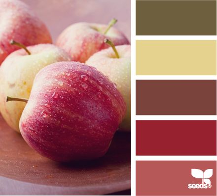 crisp color: Dining Rooms, Kitchens Colors, Design Seeds, Crisp Colors, Colors Palettes, Colors Schemes, Living Rooms Colors, Apples, Colour Palettes