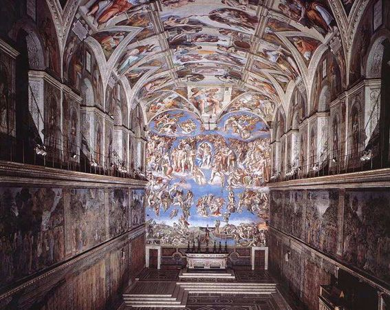 """the greatest works of michelangelo at the sistine chapel 10 greatest works of art of all time sistine chapel by michelangelo """"ten greatest works of art,"""" oxford, uk."""