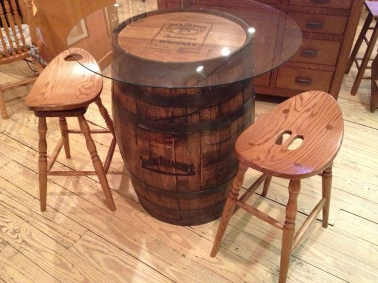 Barrel Pub Table, Amish Oak Furniture Co.
