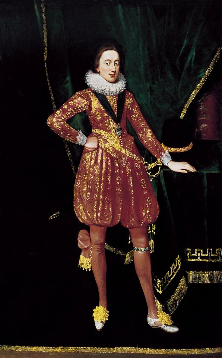 "Portrait of Charles, Prince of Wales by Paul van Somer, ca. 1616-1617 (PD-art/old), Museu Sa Bassa Blanca; in 1621, the Polish ambassador in London, Jerzy Ossoliński, was given portraits ""att length"" of the King and Prince Charles"