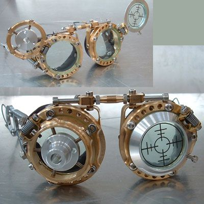 Steampunk Goggles. No link for these.